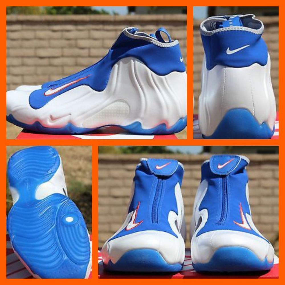 super popular 00ec4 724d5 Nike K Air Flightposite 2014 Kicks White Blue Orange 642307 100 Sz 11   eBay