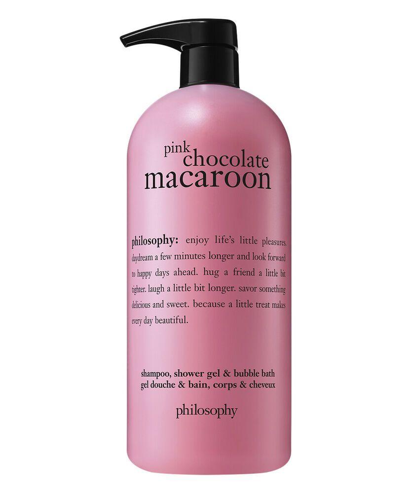 Philosophy Pink Chocolate Macaroon Shampoo Shower Gel Bubble Bath 32 Oz Philosophy Pink Chocolate Shower Gel Chocolate Macaroons