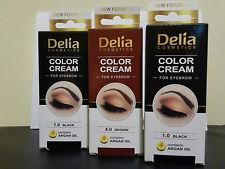 Delia Henna Cream Professional Eyebrow Tint Colour Black Or Brown