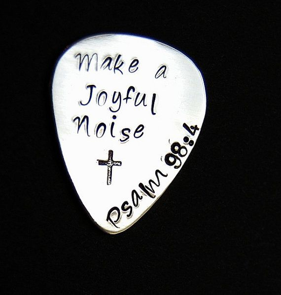 Custom Guitar pick, Fathers Day gift, Hand stamped guitar pick, Mens gift, Gift for musician engraved, Birthday gift
