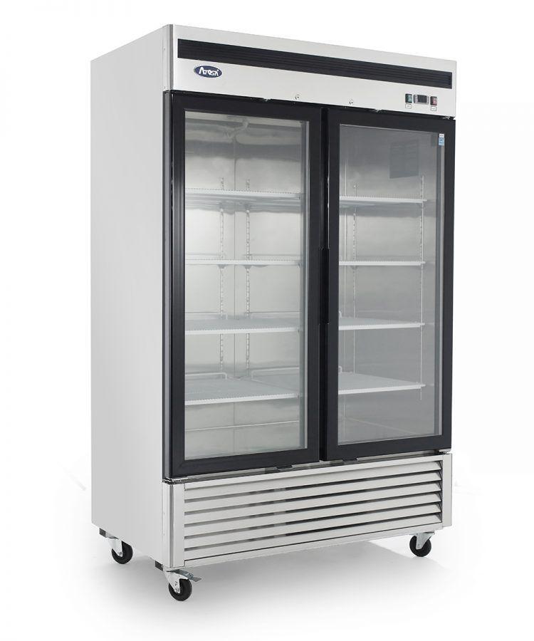 Atosa Mcf8703 Commercial 2 Glass Door Bottom Mount Freezer Ebay Double Glass Doors Adjustable Shelving Upright Freezer