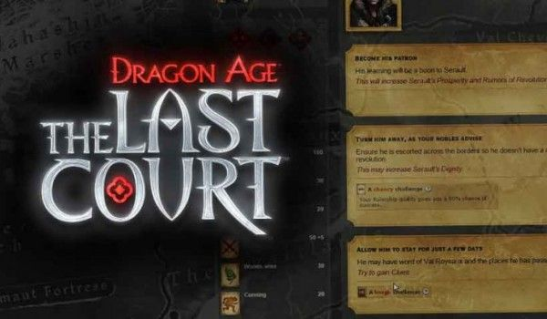 Will you be able to save the fiefdom of Serault from obscurity in Dragon Age: The Last Court?