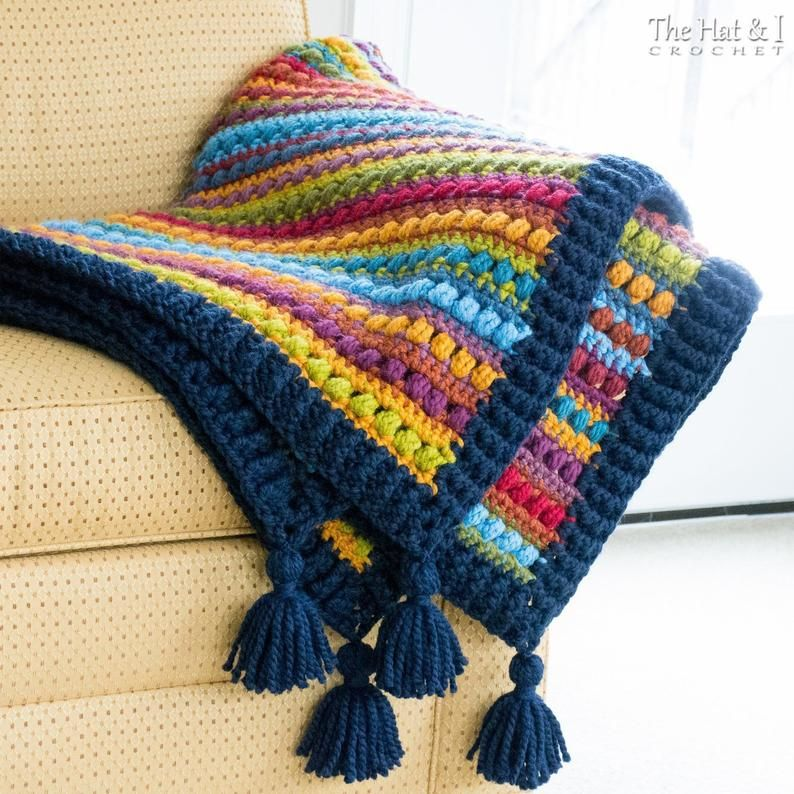 Crochet Blanket PATTERN – Bohemian Nights Blanket – crochet pattern for boho throw afghan, chunky bulky yarn pattern  – Instant PDF Download