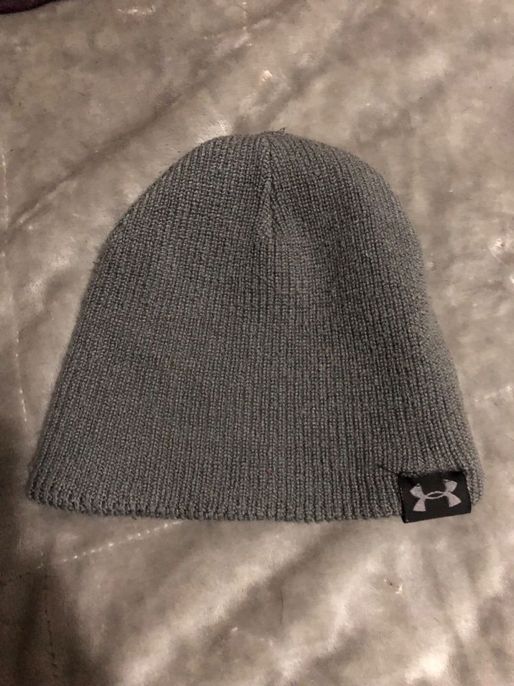 01e312a28cd men grey UNDER ARMOUR knit hat one size  fashion  clothing  shoes   accessories  mensaccessories  hats (ebay link)