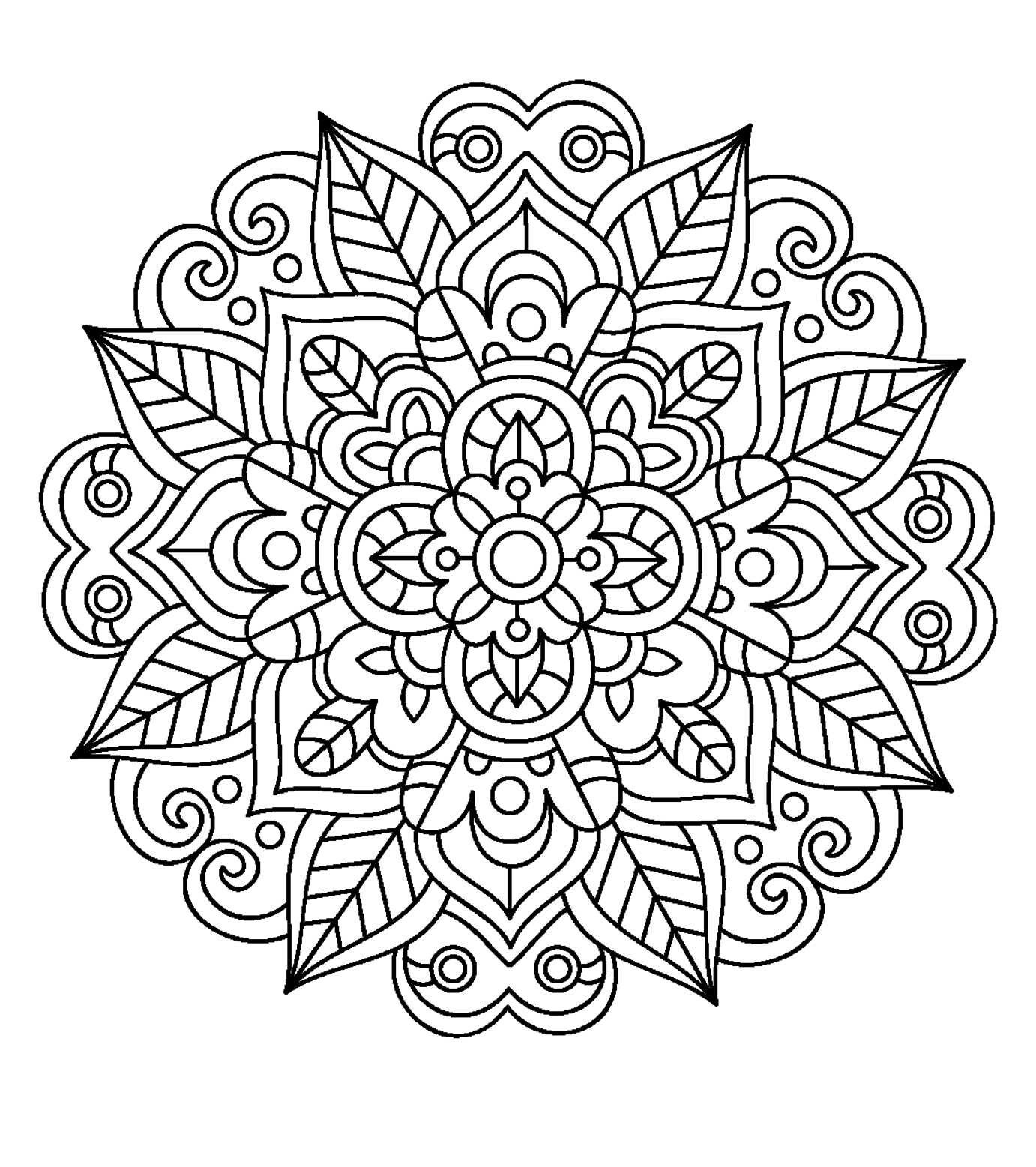 mandala coloring pages adult coloring