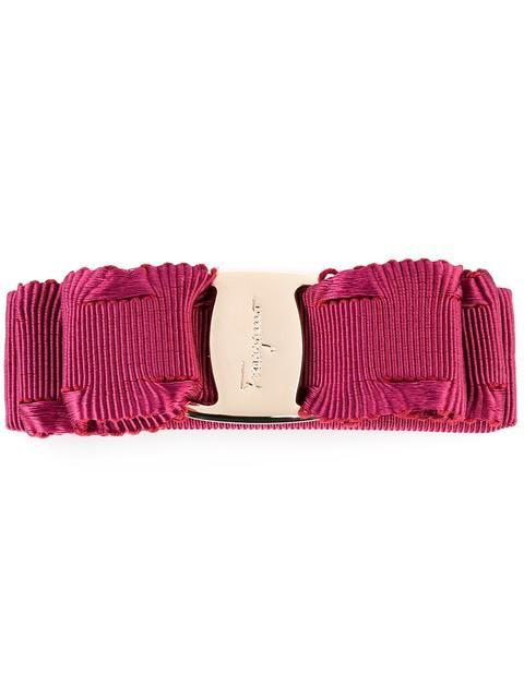 logo ribbon hair clip - Red Salvatore Ferragamo t2b87FfK