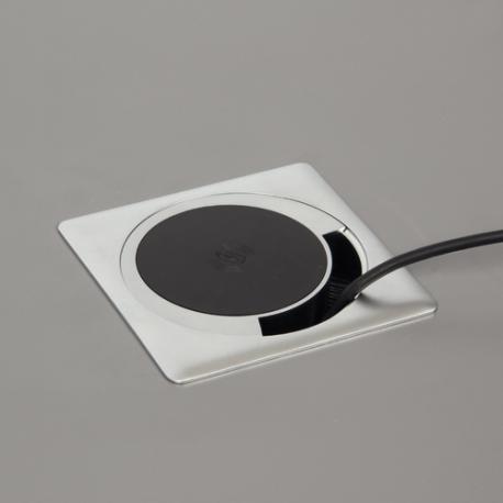 Chargeur Sans Fil Passe Cable Encastrable Chargeur Passe Cable Prise Escamotable