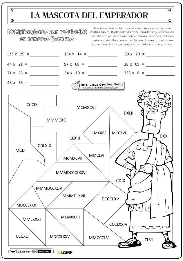 Multiplicaciones con resultados ROMANOS | matematicas | Pinterest ...
