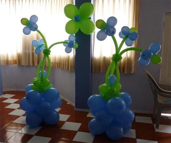 Decoracion con globos para cumplea os for Decoracion de globos para hombres