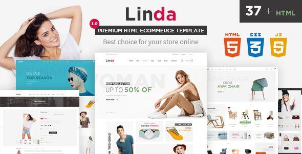 Linda - Mutilpurpose eCommerce HTML Template | High fashion men ...