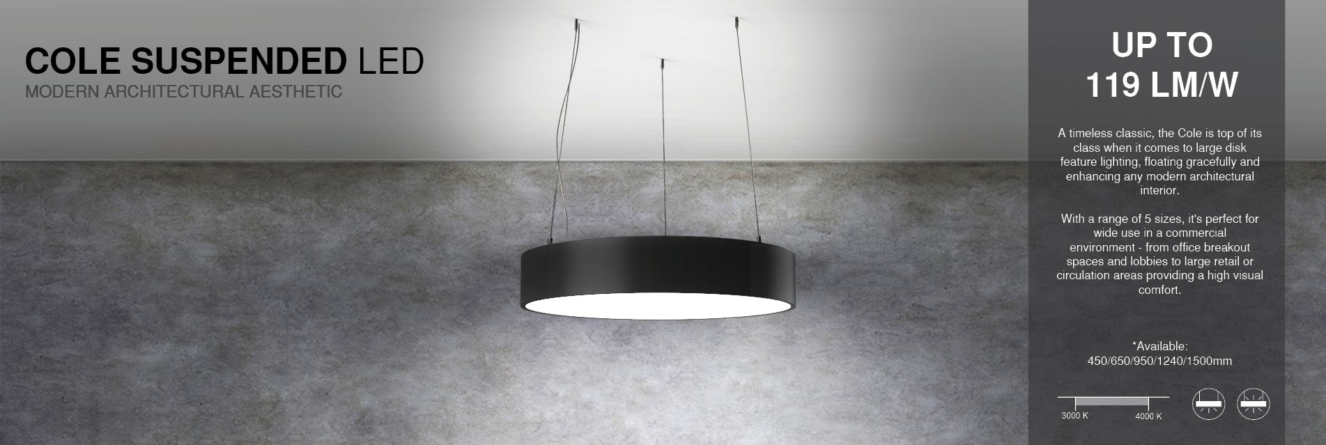Architectural Led Circular Suspended Feature Lighting 299