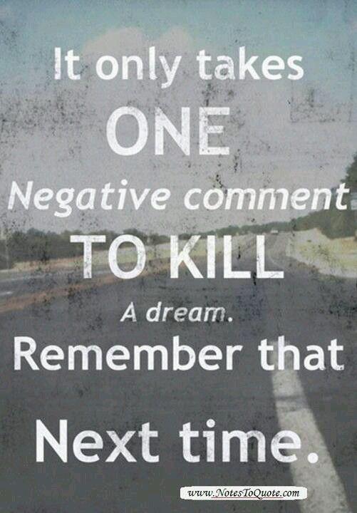 Don't be a dream killer
