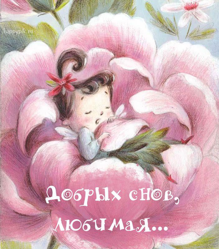 Милых снов картинки девушке, надписью