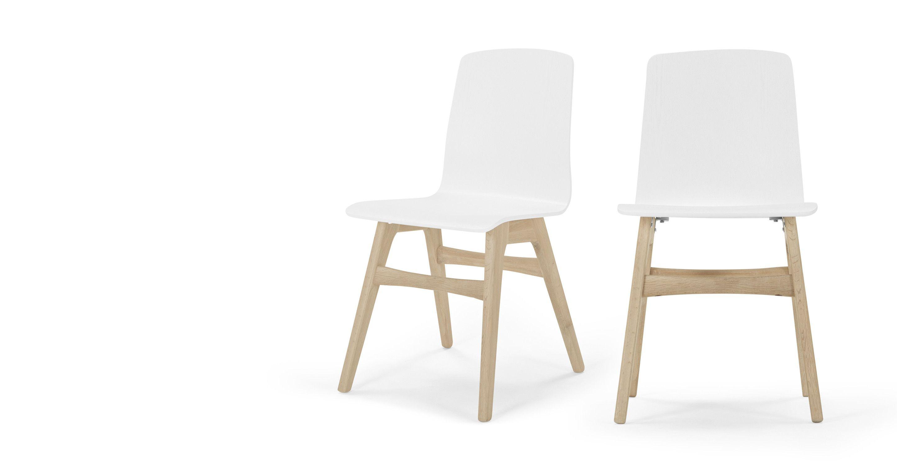Esszimmerstühle Eiche 2 x dante esszimmerstühle weiß und eiche dining chairs open plan