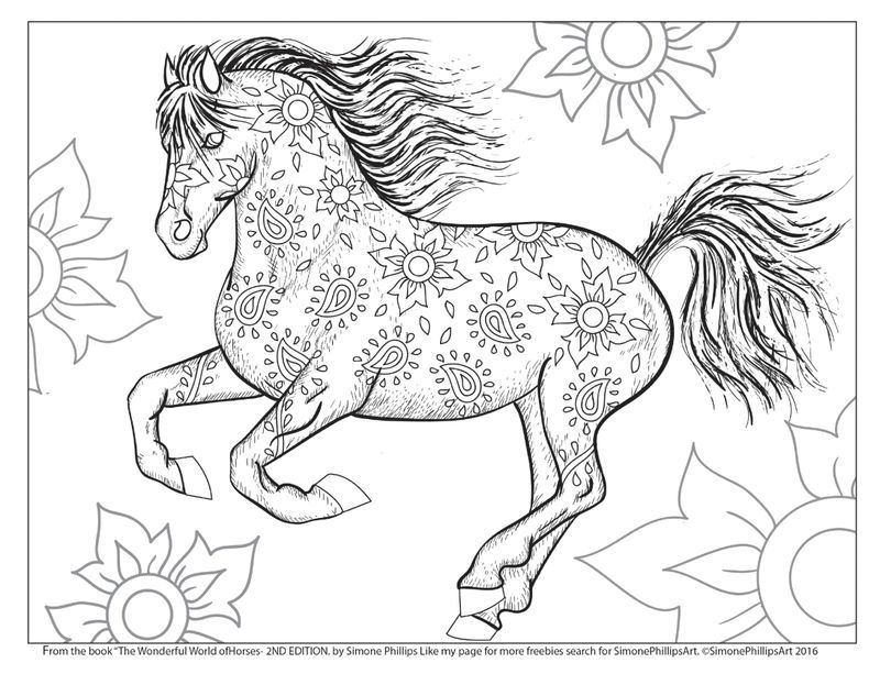 Horse With Flowers Coloring Page Horse Coloring Pages Horse Coloring Books Horse Coloring