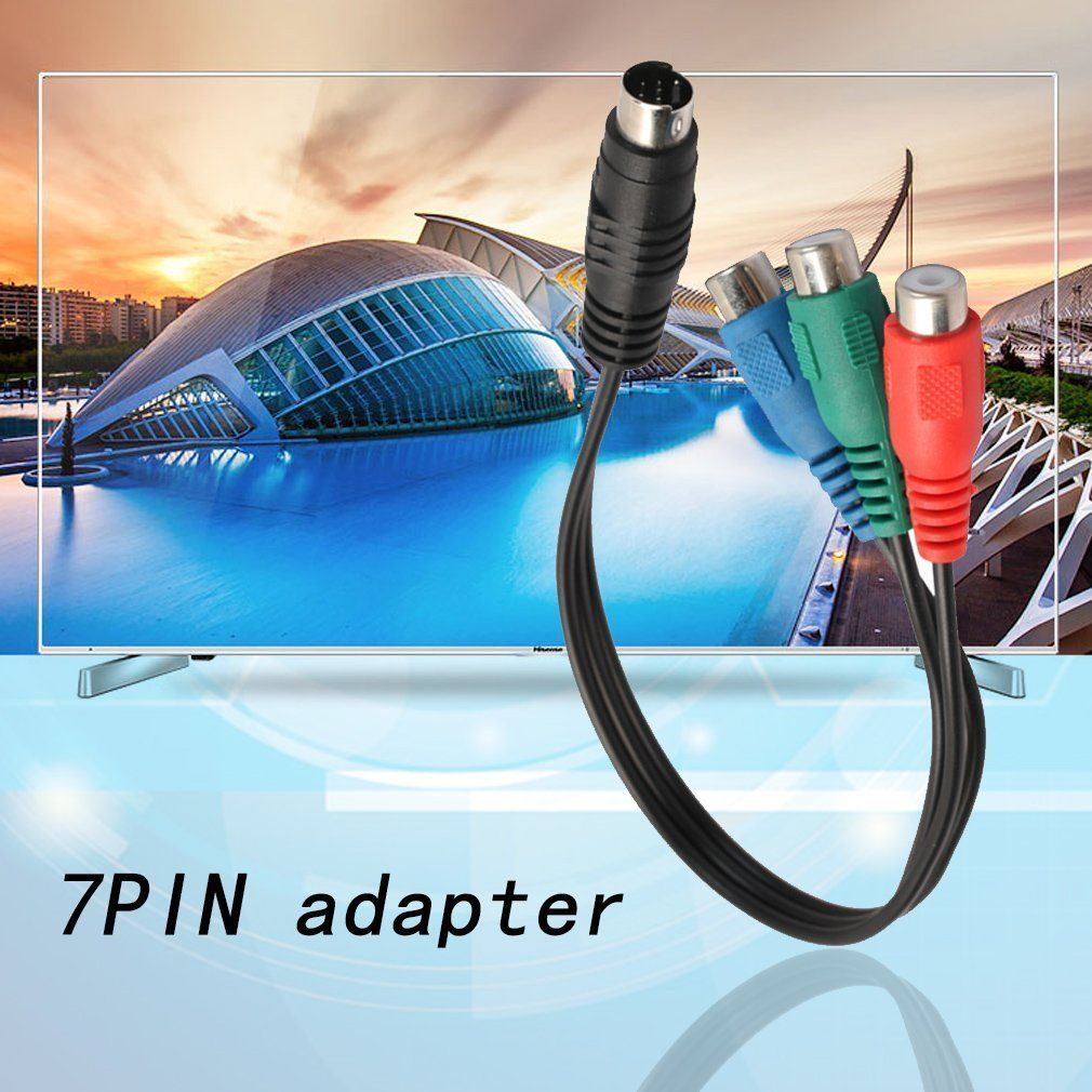 S-Video To 3 Rca Rgb Component Tv Hdtv Cable Connect Your Laptop To ...
