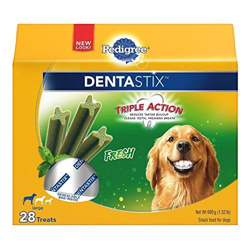 Pedigree Dentastix Large Dog Chew Treats Fresh 28 Treats Visit