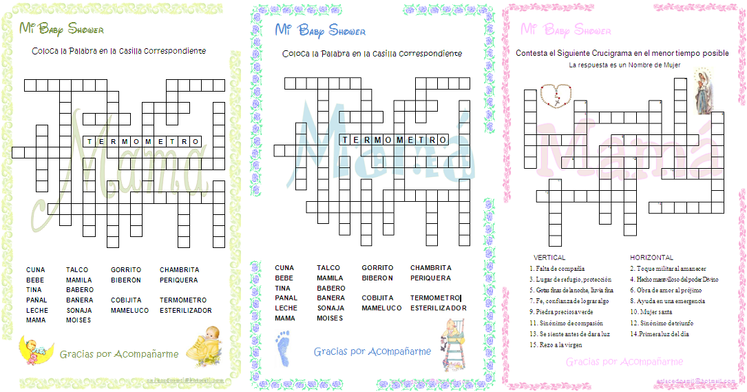 Juegos Imprimibles Para Baby Shower Imagui Baby Shower