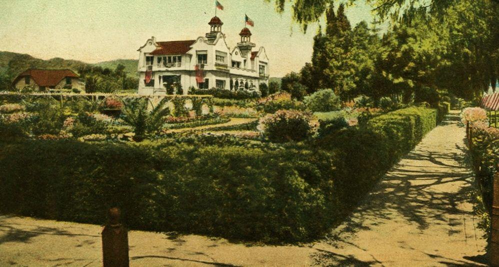 Paul de Longpre Residence and gardens -Hollywood, Cal.