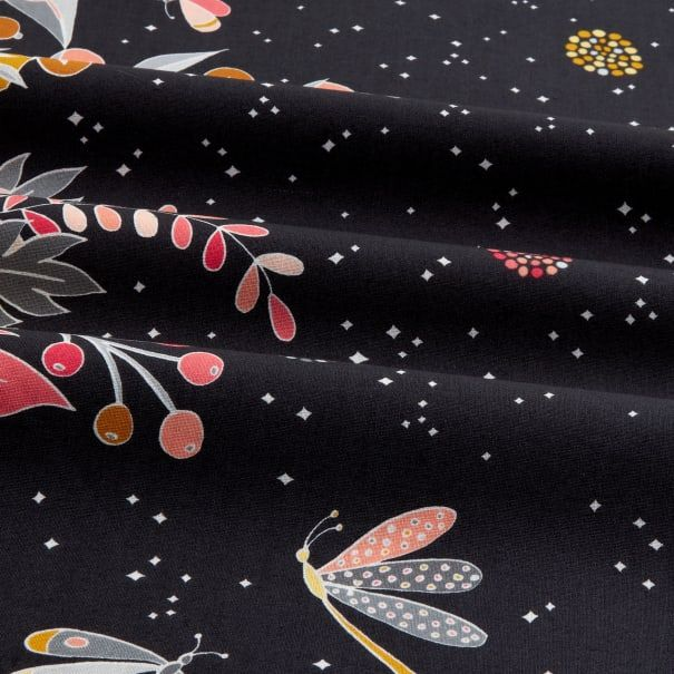 Michael Miller Night Garden Moonlit Border Midnite - Fabric.com