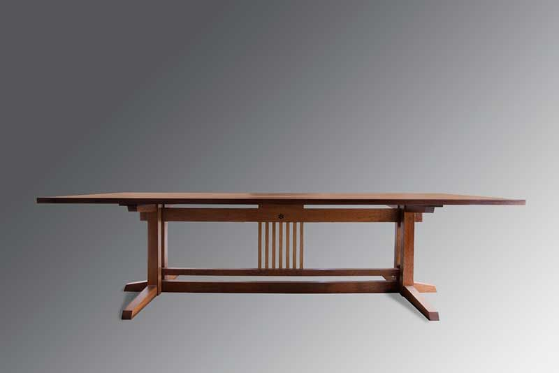 Kenji Japanese Wood Work Auroville Dining Table Design