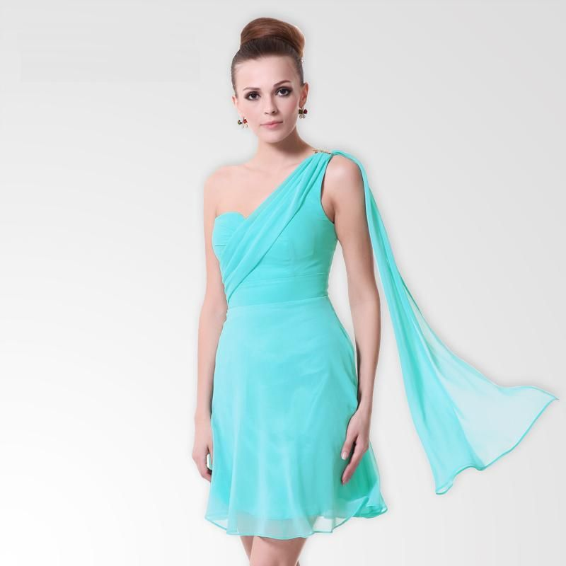 6aa04a06e45 short greek dresses | Greek Style One Shoulder Short A Line Chiffon  Bridesmaids Gowns - £99 .