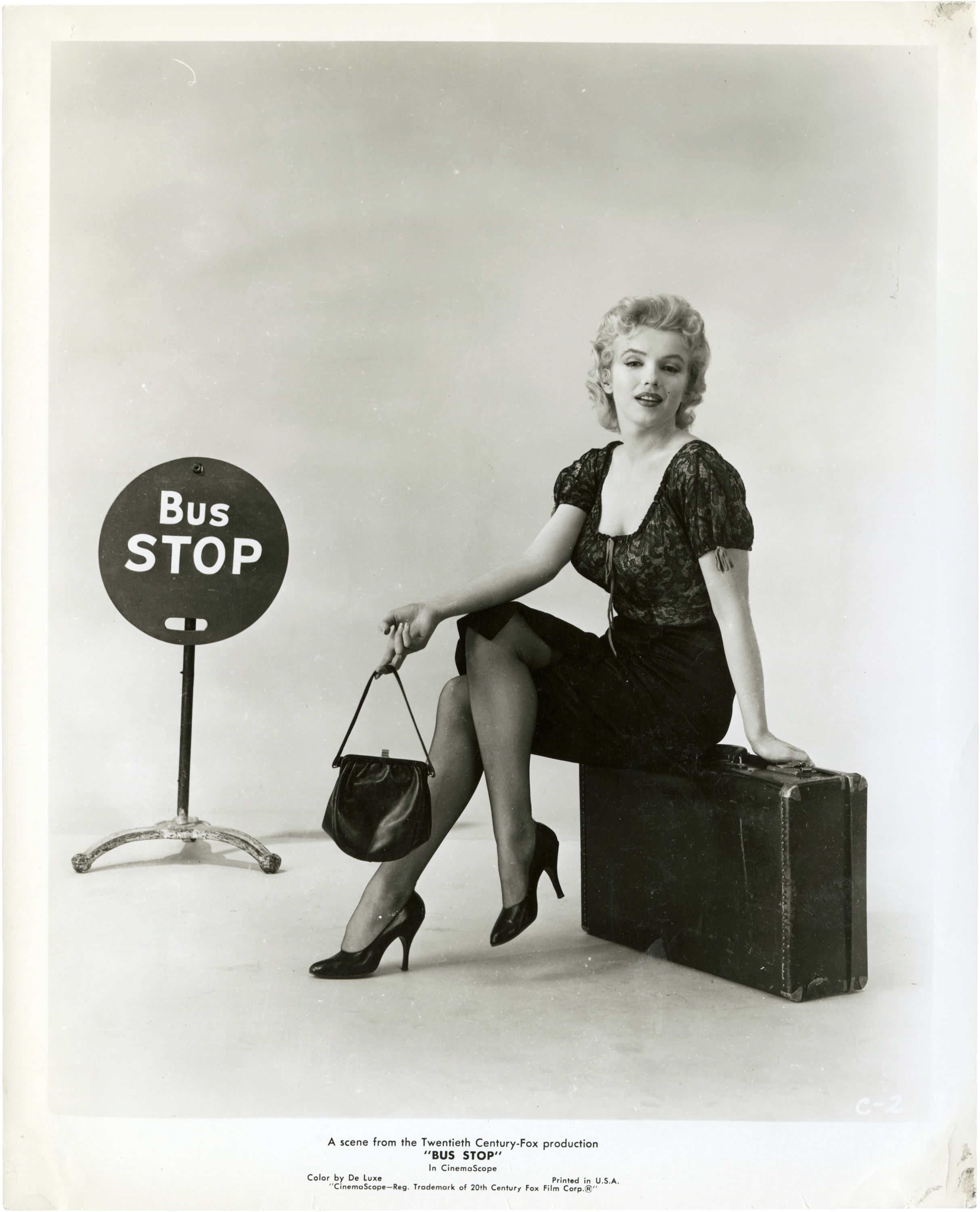 Portrait of Marilyn Monroe for Bus Stop directed by Joshua