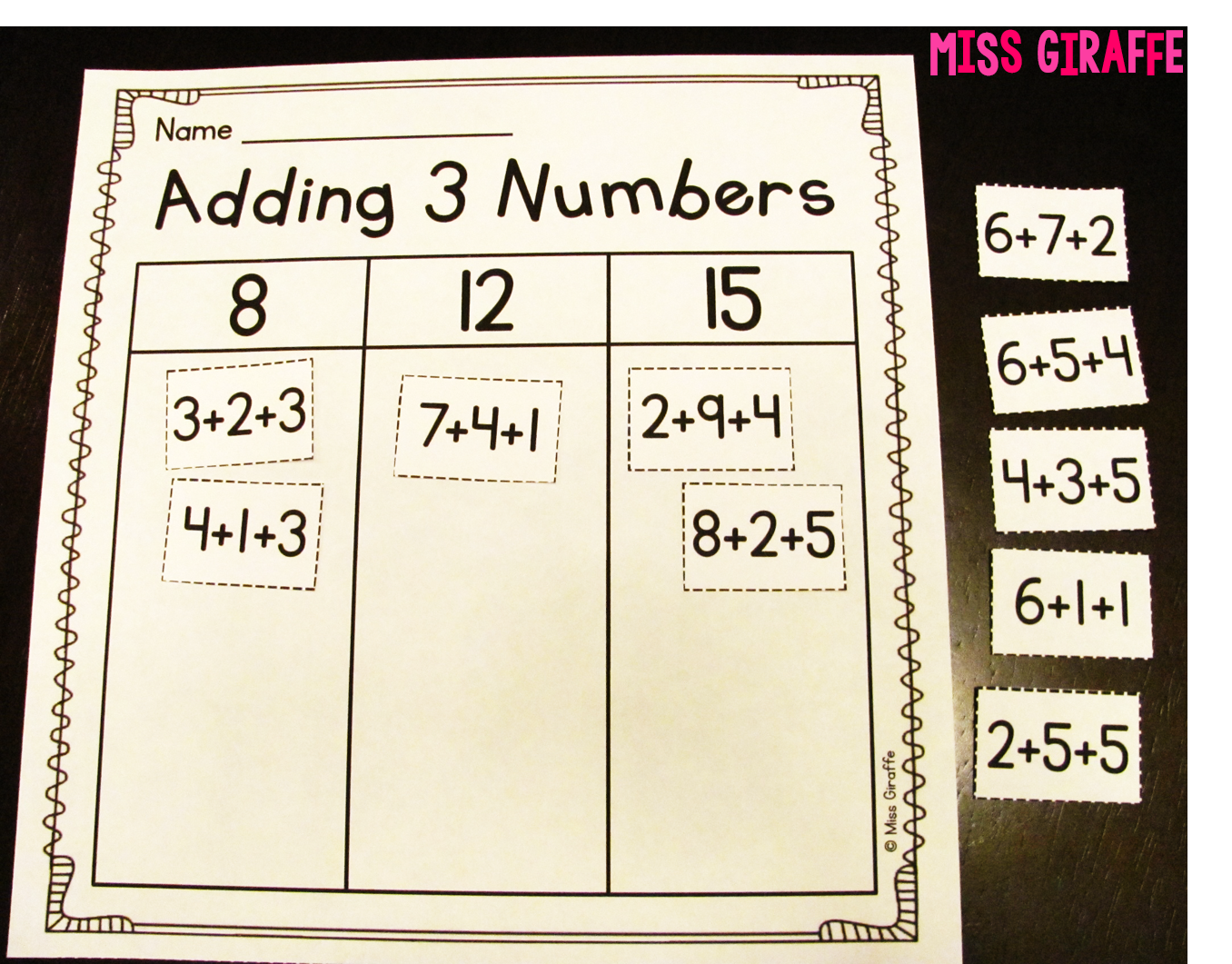 Adding 3 Numbers | Grades 1-2: Ideas & Resources | Pinterest | Mathe ...