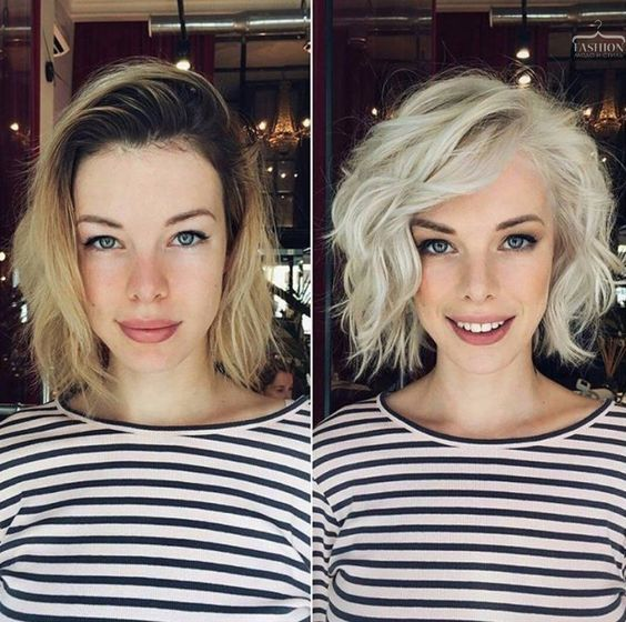 10 peinados modernos de bob desordenado, peinado femenino para cabello corto – modelos de peinado