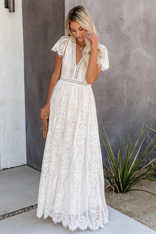 robe maxi longue blanche