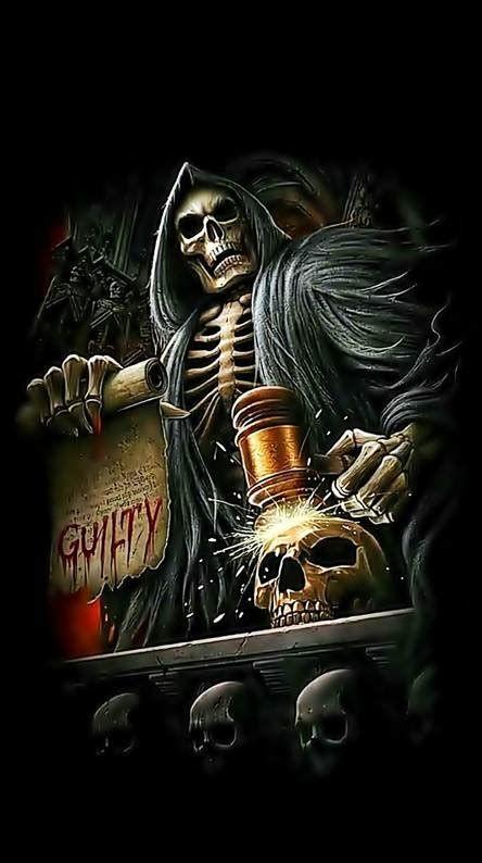 Wallpaper Keren Skull | Grim reaper art, Dark fantasy art ...