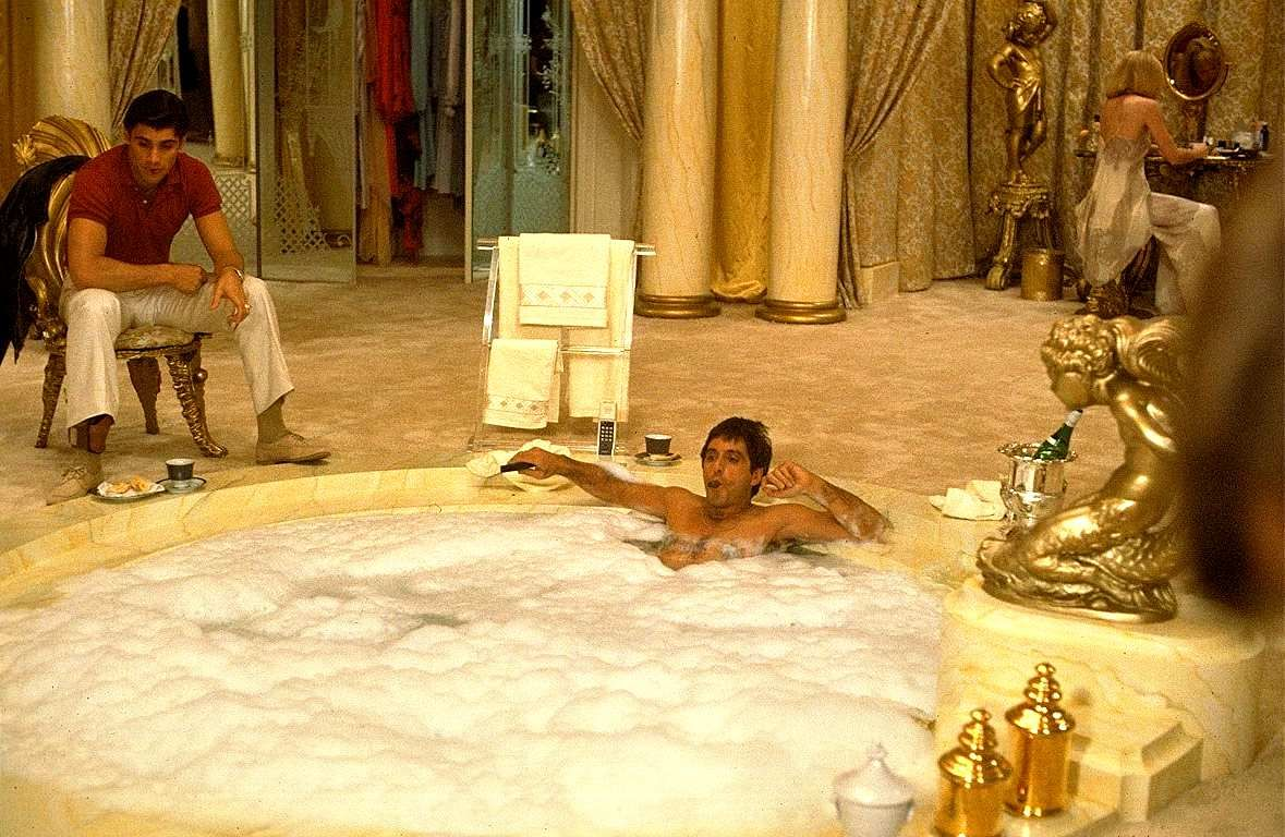Image result for scarface bath tub