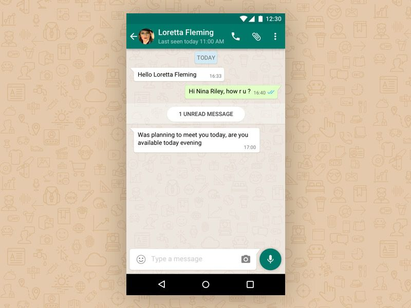 WhatsApp Chat Detail View Free Sketch App Resources Pinterest - free resume builder app for android