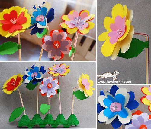 Цветочки своими руками для мамы 830