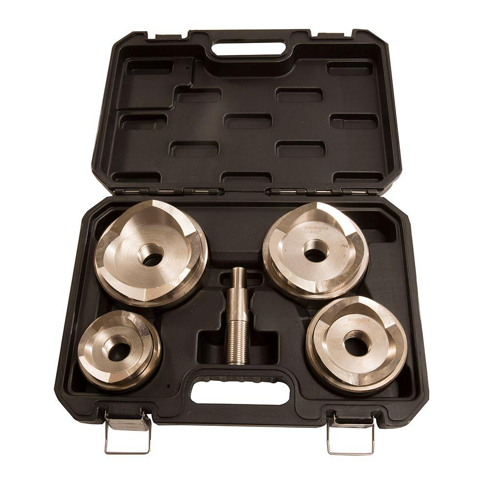 Southwire 2 1 2 In To 4 In Max Large Punch And Die Cutter Set For Stainless Steel Stainless Steel Steel Tool Steel