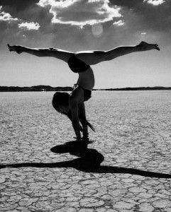handstand with splits variation…in the desert yoga