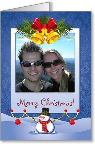 Free Photo Insert Christmas Cards to Print at Home, using your own - free greeting card templates for microsoft word