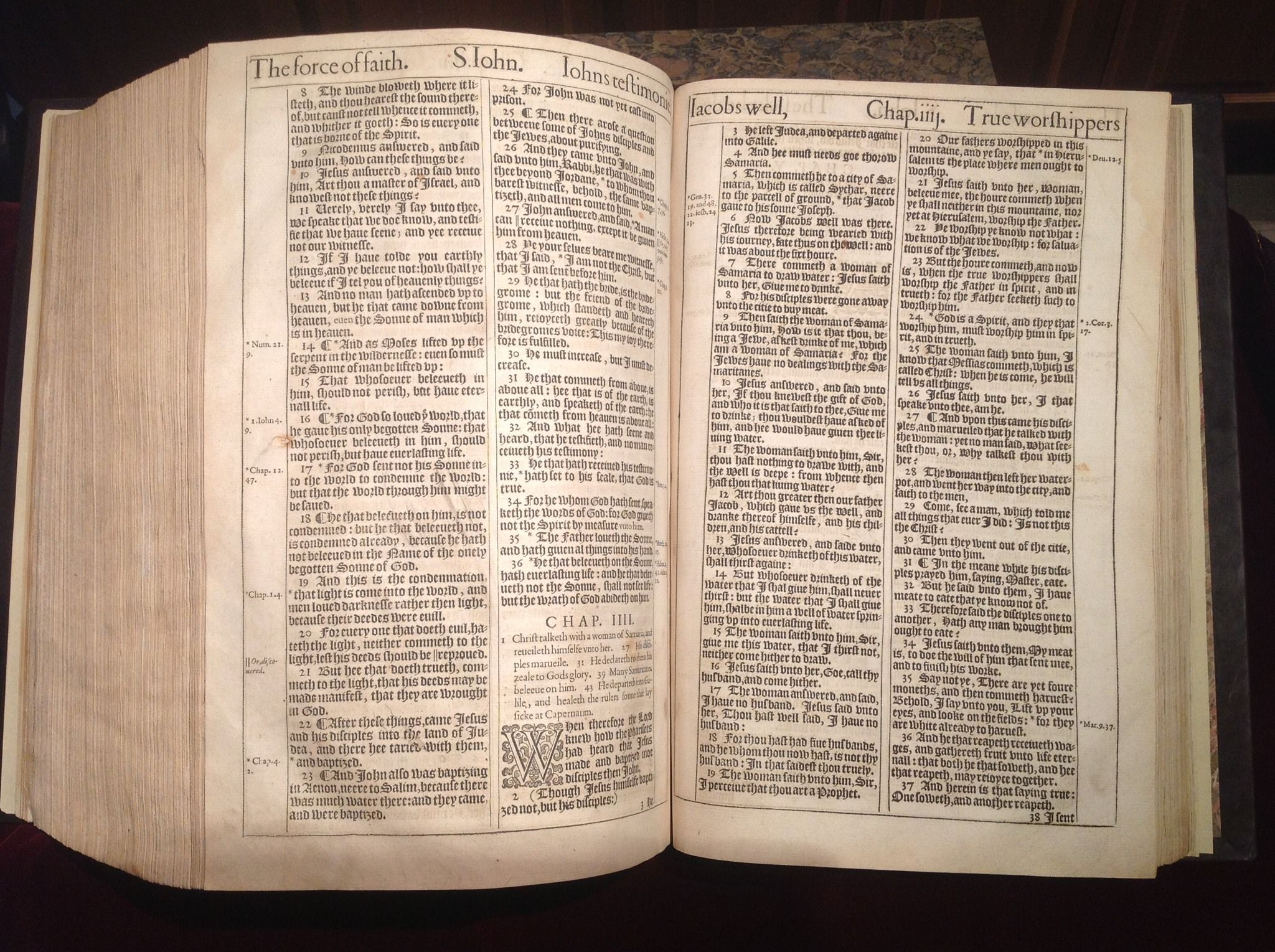 John 3 16 And Surrounding Verses From A 1611 King James Bible 1611 King James Bible King James Bible Bible