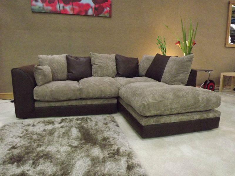 Wonderful Brown And Beige Furniture   Dylan Brown And Beige Corner Sofa