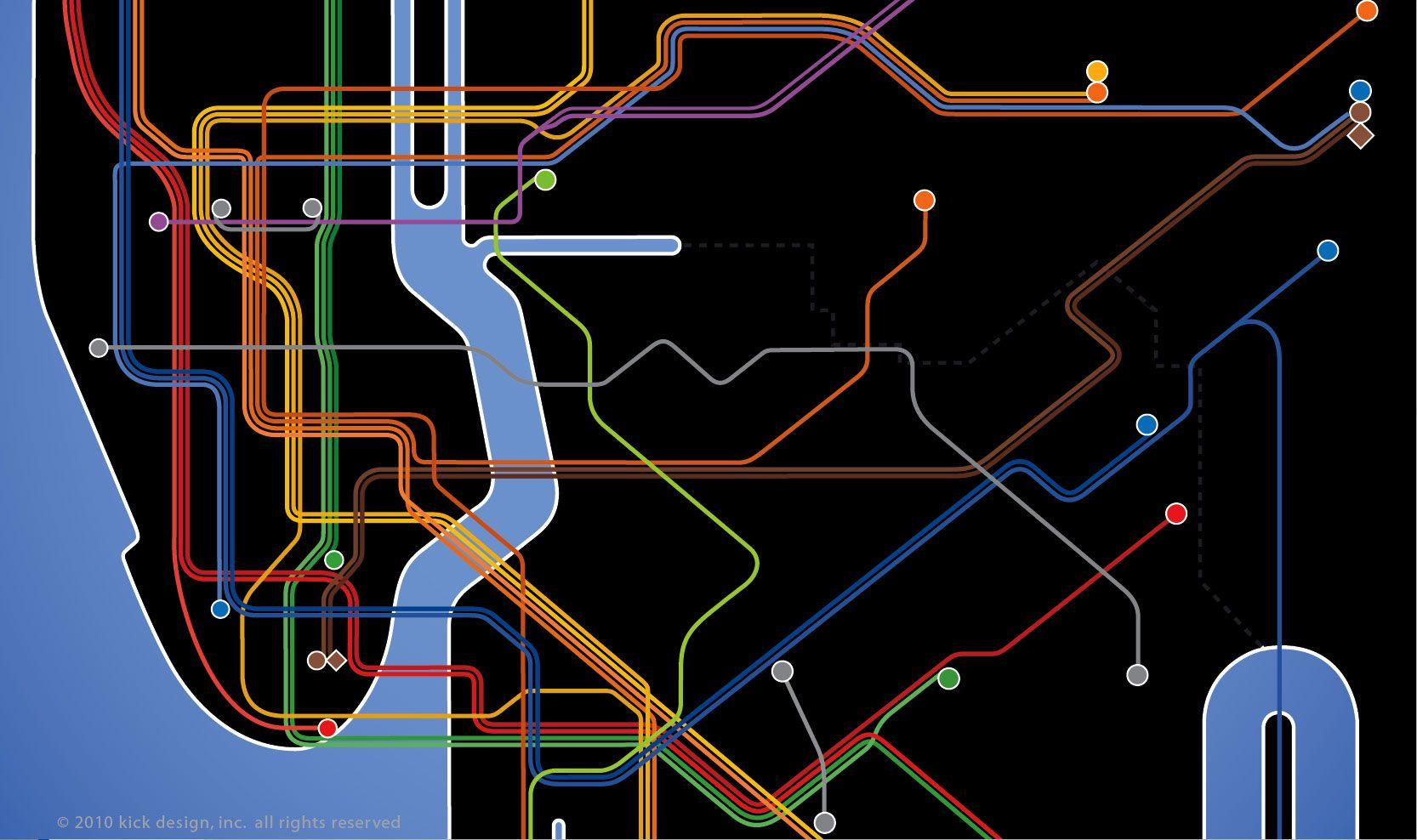 Kickmap Ny Wallpaper Queens Wallpaper Schematic Design Map