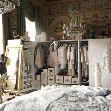 petits espaces amnager un dressing dans une petite chambre - Comment Faire Un Dressing Dans Une Petite Chambre