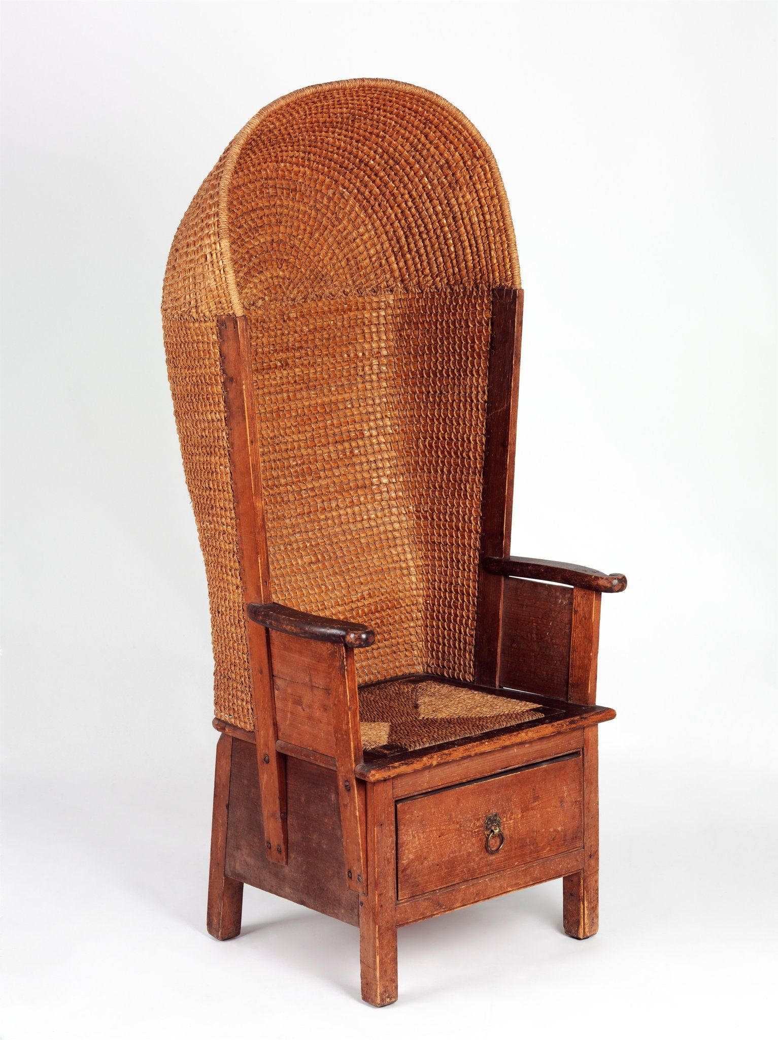 Orkney Chair - one of the most intriguing treasures in the new Furniture Gallery at the Victoria & Albert Museum is a simple wooden and straw chair with rather humbler origins.