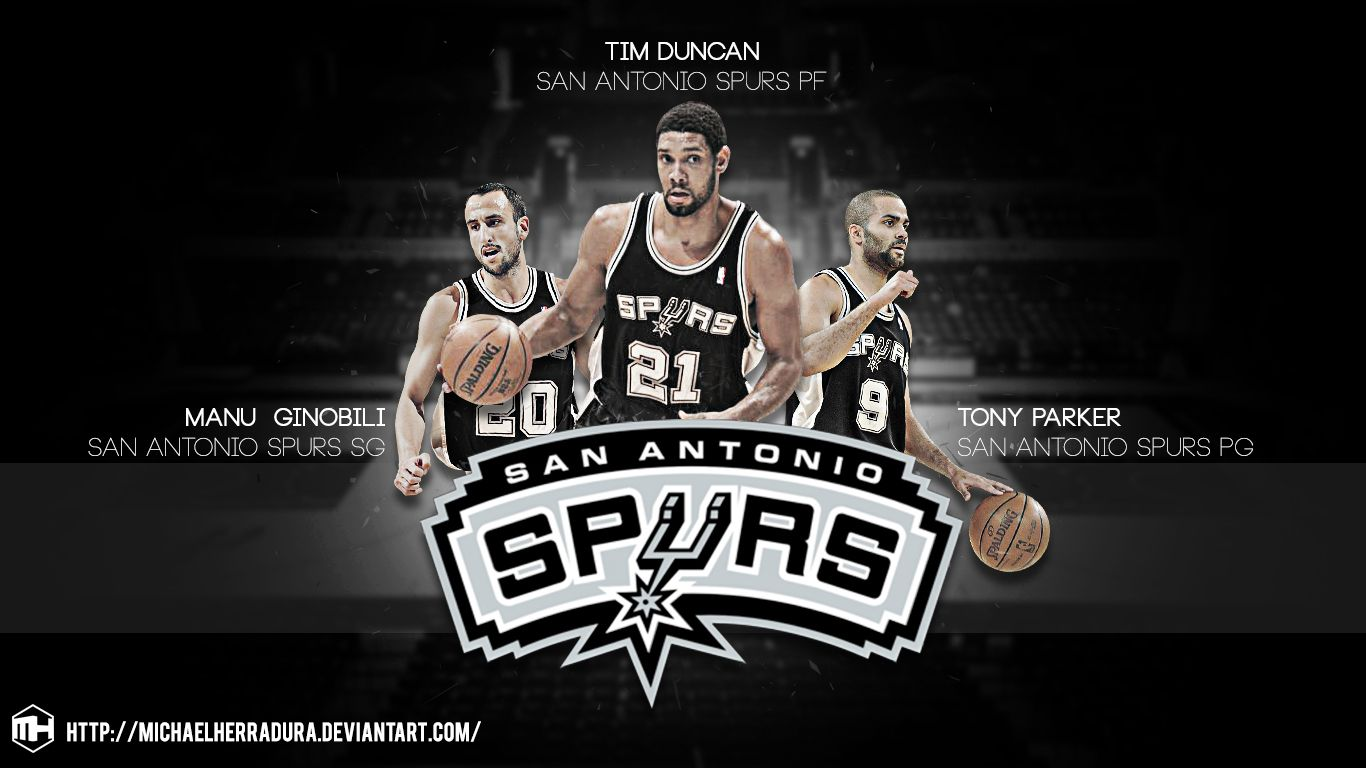 San Antonio Spurs BIG 3 wallpaper by michaelherradura