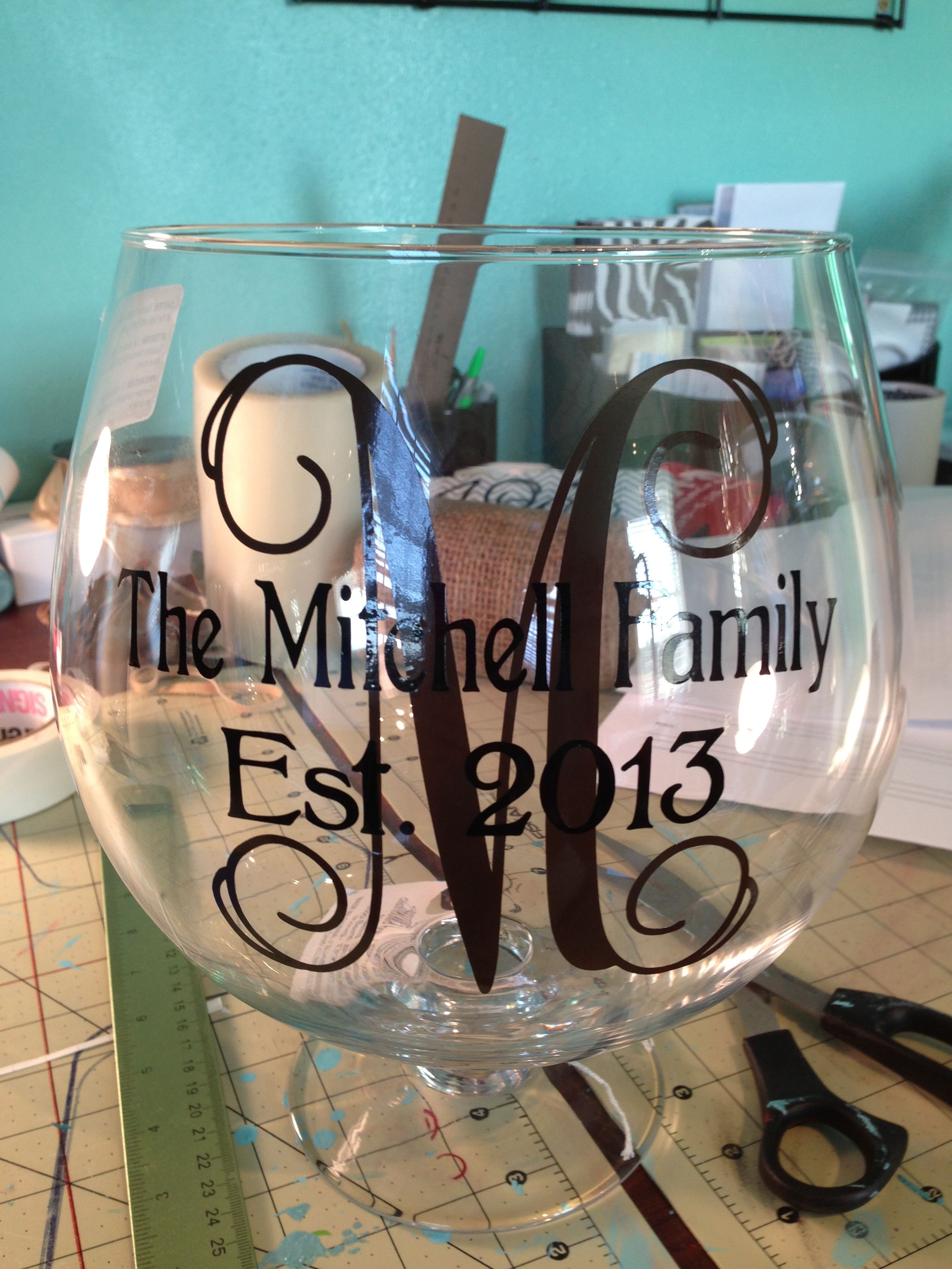 Great for wedding gift wine glass stemless wine glass