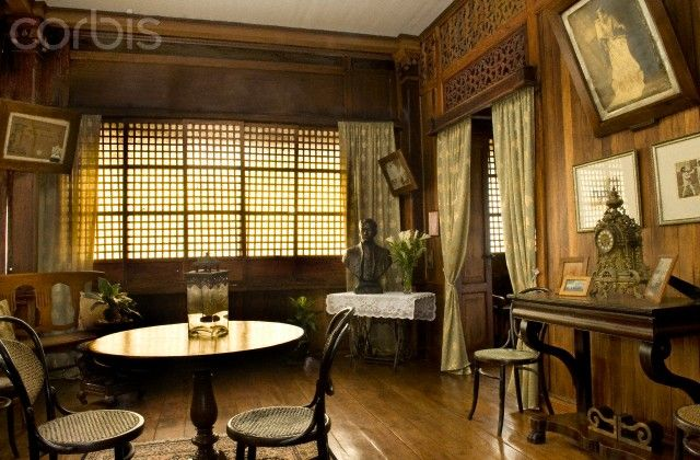 Interior Of Old Fashion Filipino Home Taal Philippines