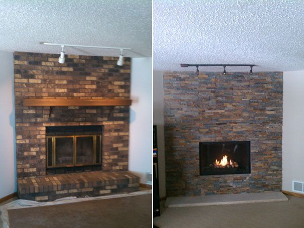 Before And After Pictures Twin City Fireplace And Stone Company Minneapolis Mn Indoor And Outdoor Fireplace Fireplace Fireplace Remodel Fireplace Hearth