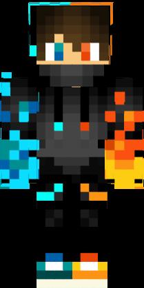 Fire And Water Boy Nova Skin Minecraft Skins Skin Nova Minecraft Skins Boy