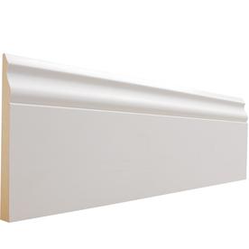 Shop Evertrue 5 25 In X 8 Ft Interior Primed Mdf Baseboard Moulding At Lowes Com Baseboard Moulding Baseboard Molding Baseboards