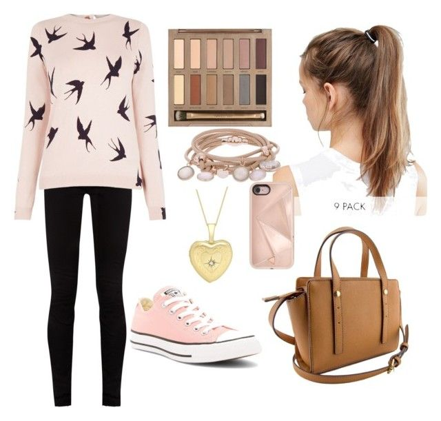 """""""lite pink for today"""" by magic-sunsat ❤ liked on Polyvore featuring Converse, Gucci, Oasis, Marjana von Berlepsch, NIKE, Urban Decay, Rebecca Minkoff and IBB"""