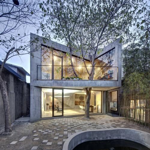 樹葉飄逸在空中, 蒼鬱色彩的上海茶屋。 @ 綠‧建築家 :: searchouse.net
